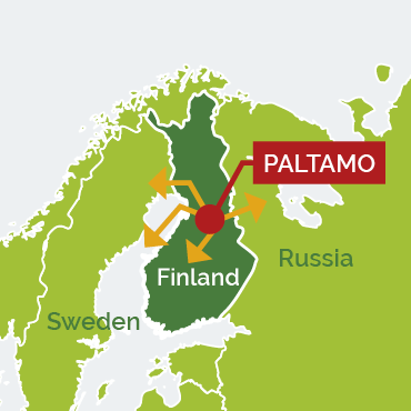 Paltamo Site, Map of Europe